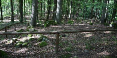 historia przodków ukryta wtajemniczych kamiennych budowlach. Namiejscu ścieżka dydaktyczna zeszczegółowym opisem odnalezionych wczasie badań archeologicznych kurhanów. Odległość: 5 km